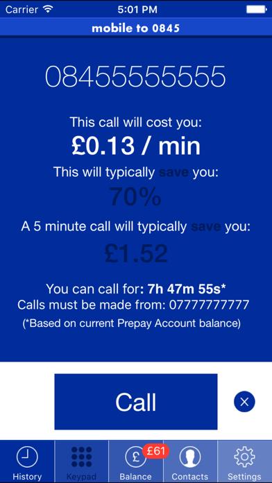 Mobile To 0845 screenshot three
