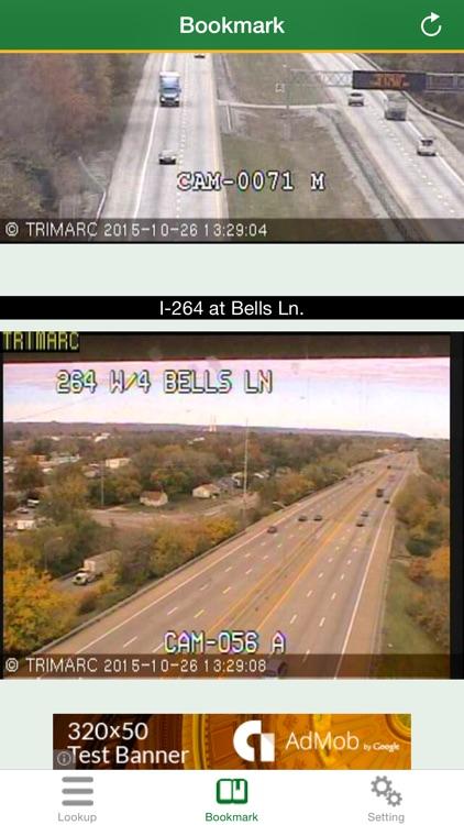 traffico Kentucky - Lives Hwy, Airport, Ferries, Town, Bridge cameras screenshot-3