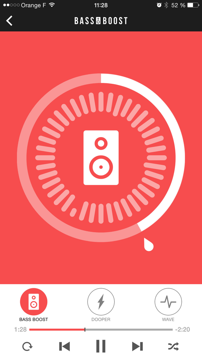 Bass Booster - Volume Power Amp and mp3 Music Play Screenshot