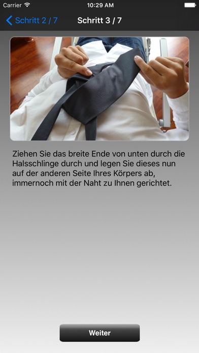 Krawatten-KnotenScreenshot von 2