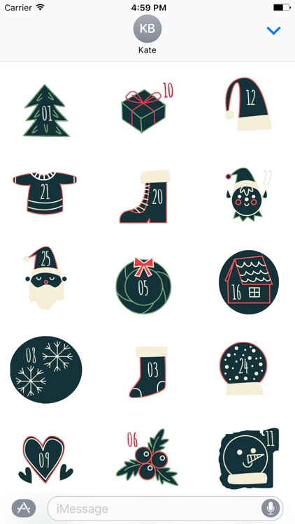 Christmas Advent Calendar - Fc Sticker