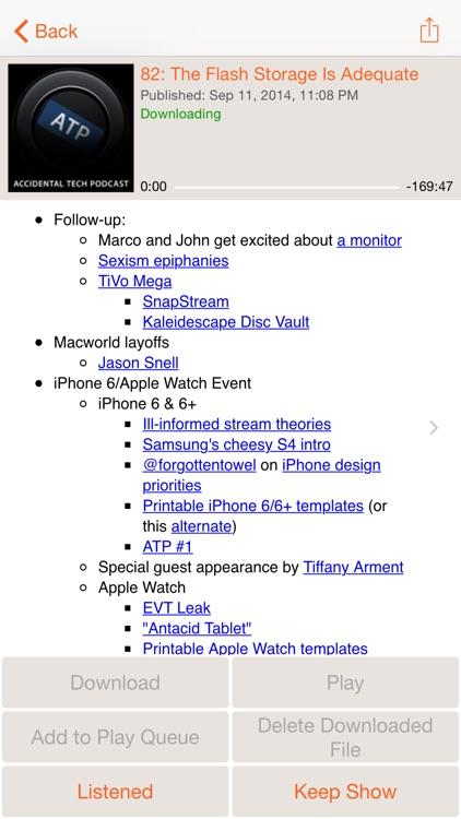 RSSRadio Podcast Player screenshot-3