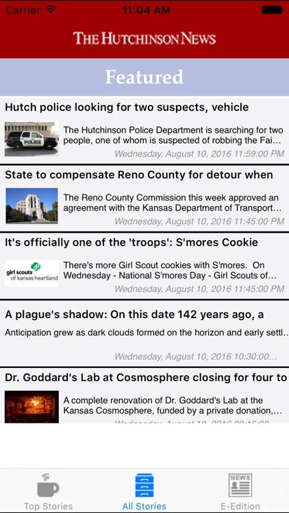 Hutchinson News Screenshot 2