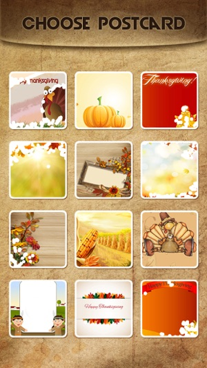 Holiday greeting cards free mail thank you ecards send wishes holiday greeting cards free mail thank you ecards send wishes for american thanksgiving day on the app store m4hsunfo