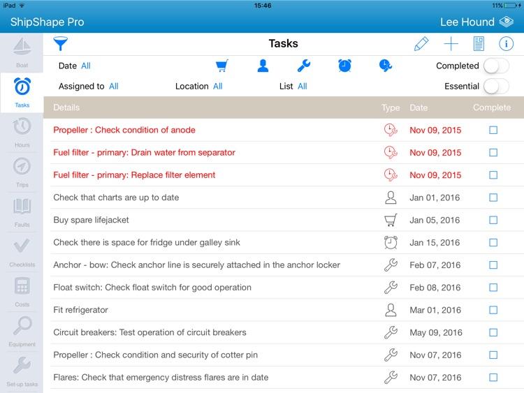 ShipShape Pro - Maintenance screenshot-0