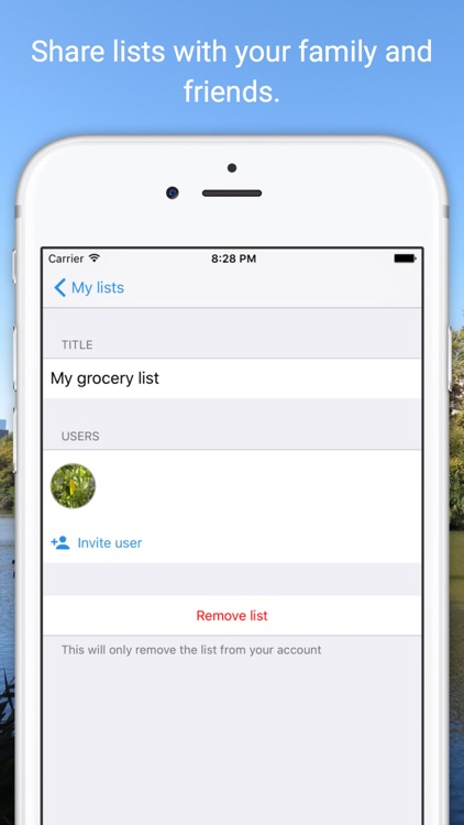 Listy - share lists with family and friends