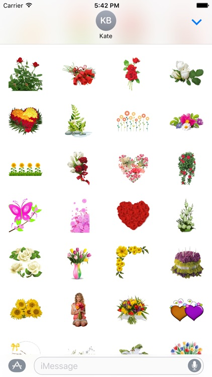 Flowers Stickers Pack FOr iMessage screenshot-3