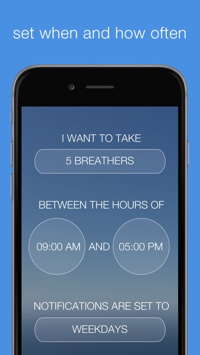 Breathe | Calming Reminders For Mindful Breathing Screenshot