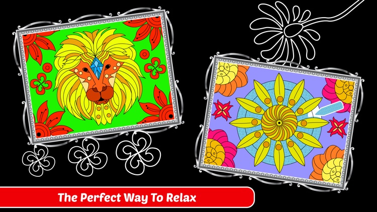 Enchanted Forest Art Class- Coloring Book for Adults with Stress Relieving Patterns screenshot-3
