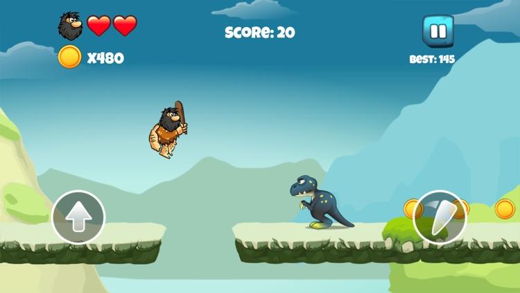 Dinosaur vs Caveman - Dino Hunting Games for Kids