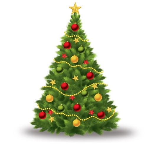Send Christmas Tree Stickers