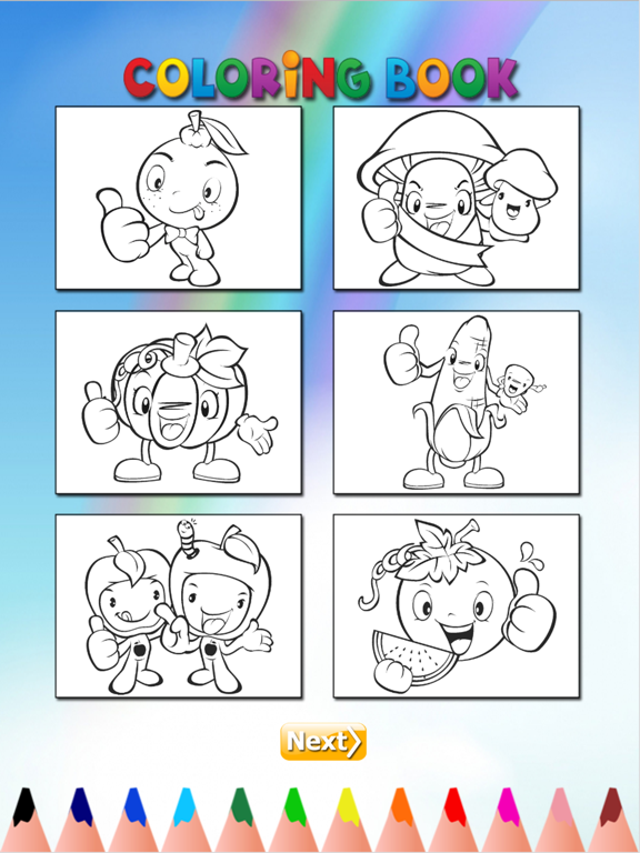 The Vegetable Coloring Book for Children: Learn to color the ...