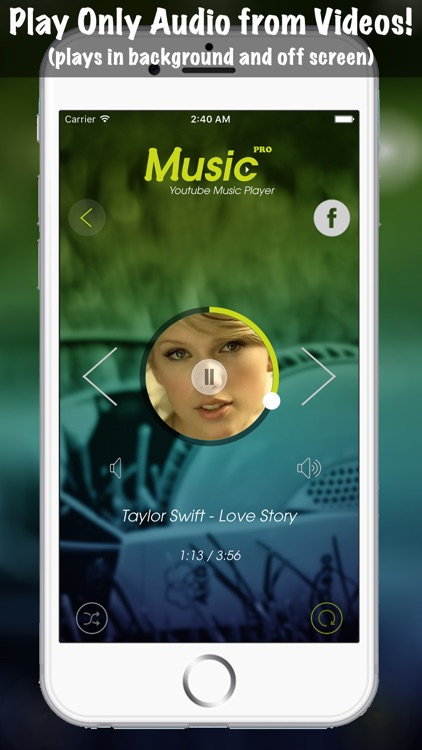 Music Pro Background Player for YouTube Video - Best YT Audio Converter and Song Playlist Editor