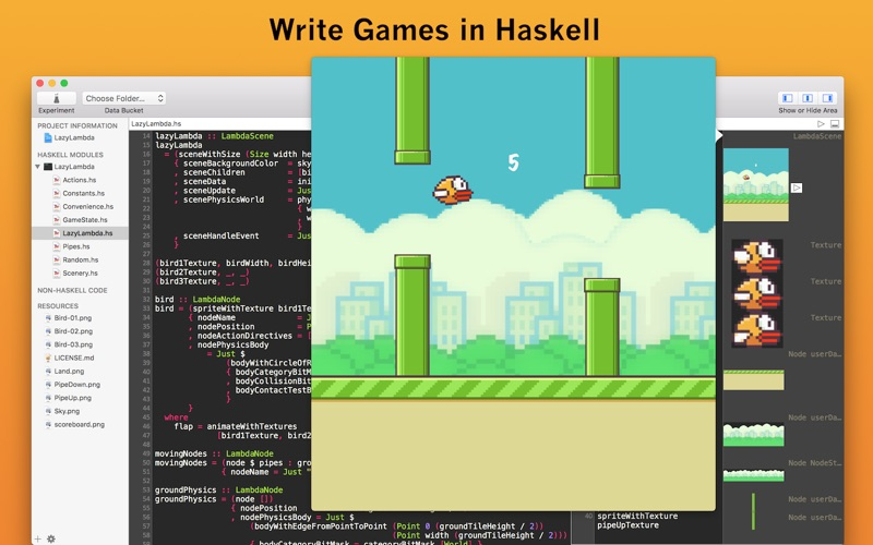 Haskell review screenshots