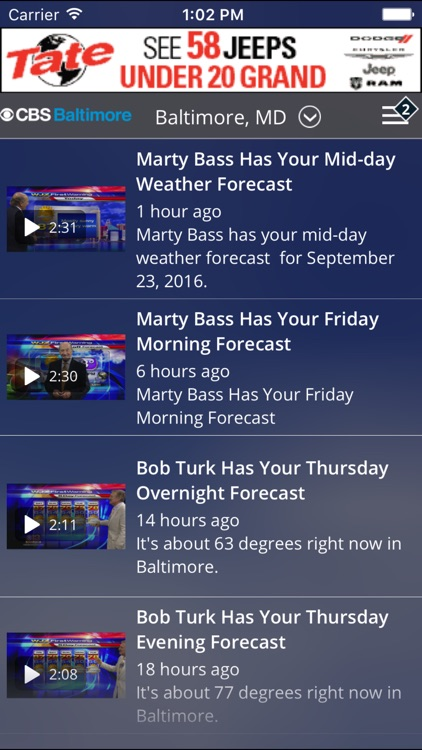 CBS Baltimore Weather screenshot-3