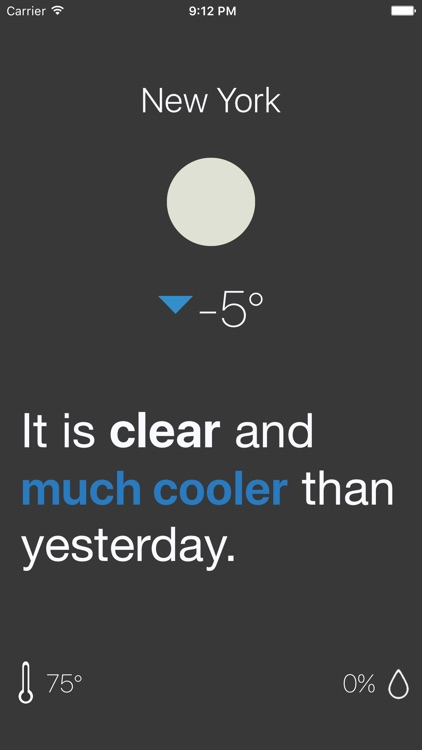 Relatively: Simple Weather