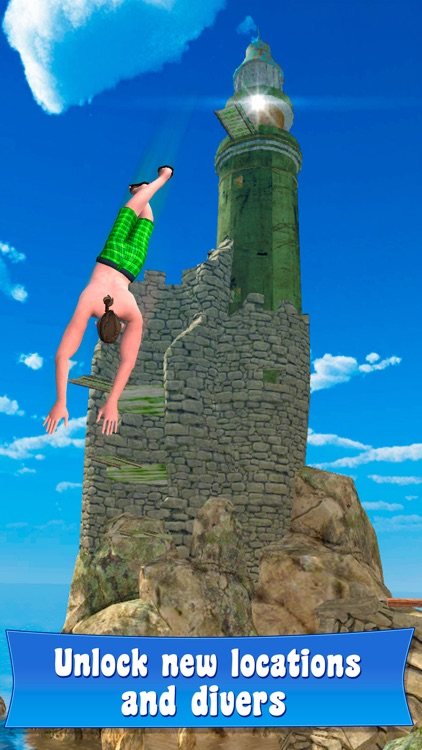 Swimming Pool Cliff Flip Diving Simulator 3D screenshot-3