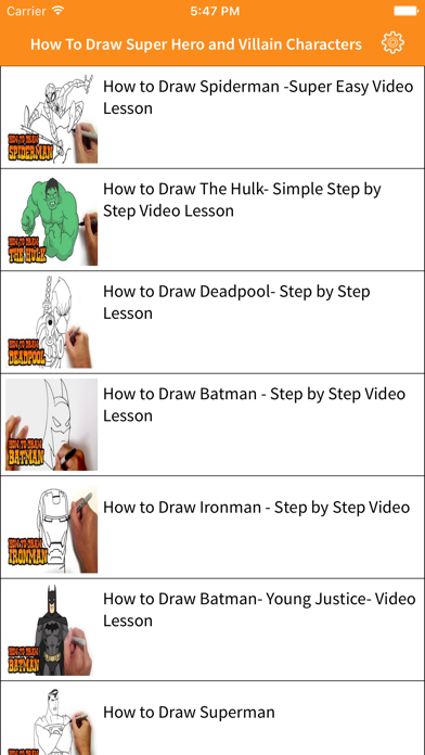 How To Draw - Learn to draw pictures for super hero and