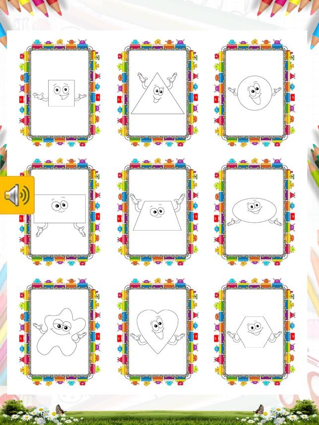 şekiller Boyama Kitabı Minik Bilge şekilleri Boyayarak öğreniyor