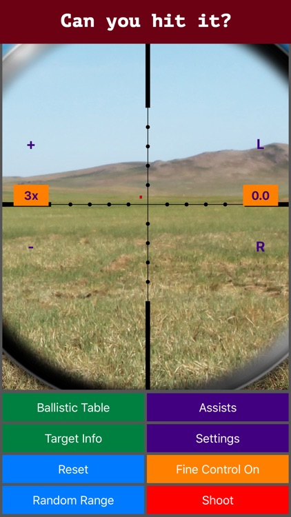 Longshot (metric) - Long Range Shooting Simulator and Mildot Scope Ranging Trainer screenshot-0