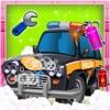 警车修理和修复它 - 汽车整车清理