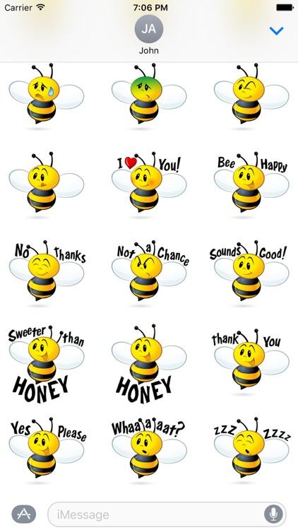 Bee Sticker Pack screenshot-3