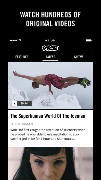 Screenshot 3 for VICE's iPhone app'