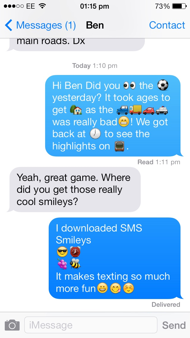 Sms Smileys review screenshots