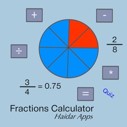 Fraction and Decimal Calculator with Fractions Quiz mode