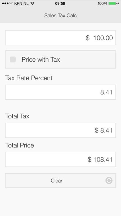 Sales Tax Calculator App for FREE screenshot-3