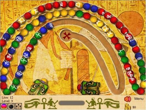 Скачать игру Marble Blast of Egypt