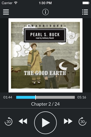 The Good Earth (by Pearl S. Buck) (UNABRIDGED AUDIOBOOK) screenshot 1