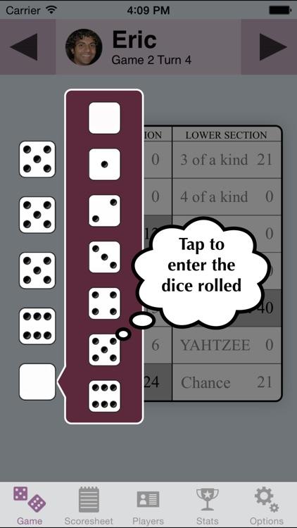 YZ Score - scoresheet for YAHTZEE®