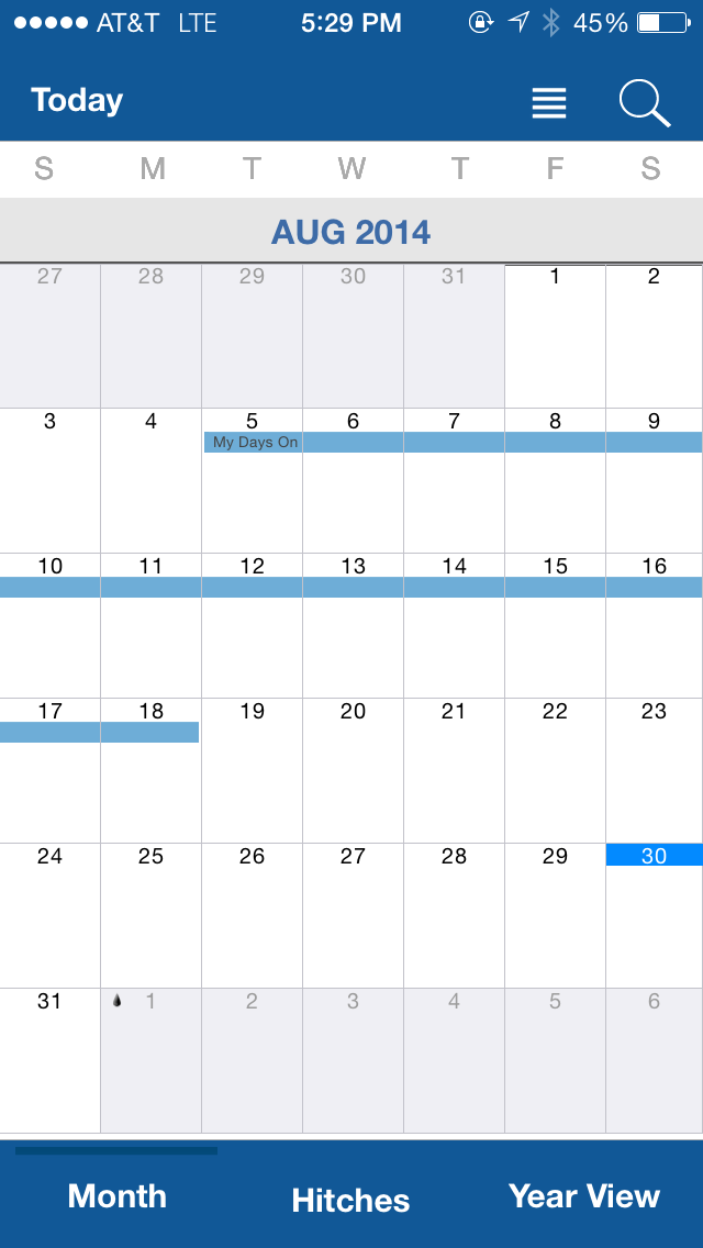 Oilfield Calendar app