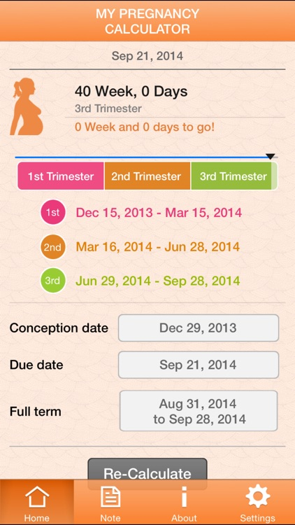 My Pregnancy Calculator screenshot-1