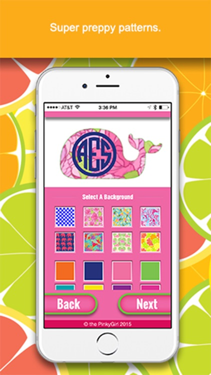 The PinkyGirl Monogram Maker And Text App screenshot-1
