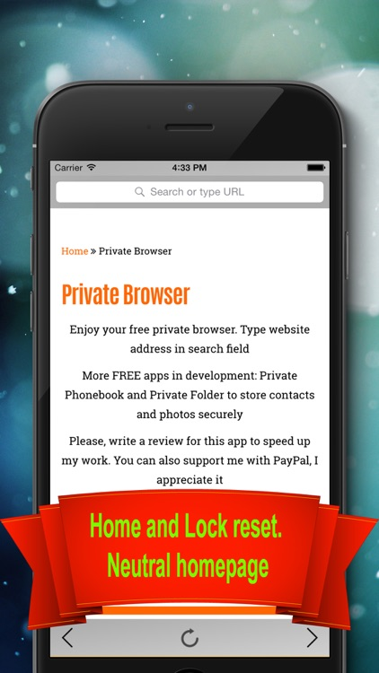 Private Browser - Private & Anonymous web browser