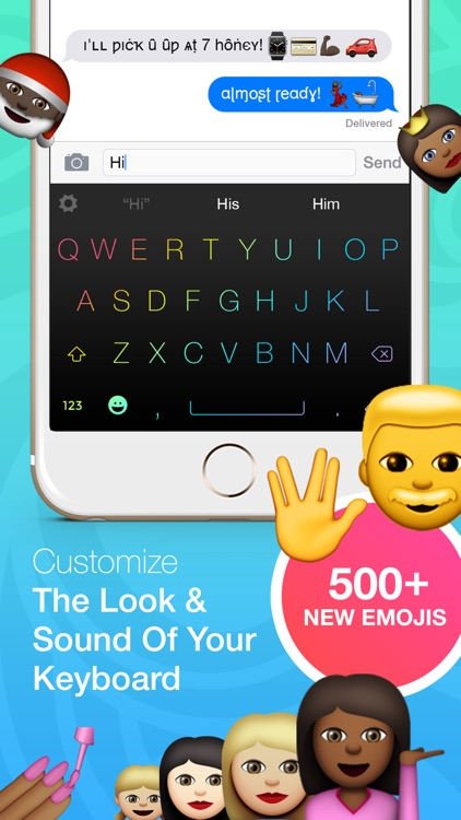 Keyboard Themes with custom fonts and emojis - PRO version