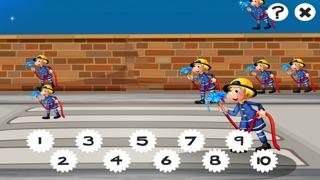 123數學遊戲學校兒童和嬰兒:第一任務和學習與消防和警察計數屏幕截圖4