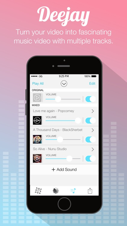 Video Sound for Instagram - Free Add Background Music to Video Clips and Share to Instagram