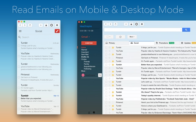 Email for Gmail on the MacAppStore