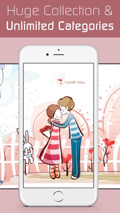 Love Wallpapers HD, Romantic Backgrounds & Valentine's Day Cards screenshot-3