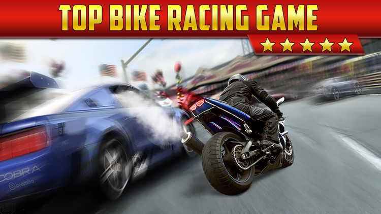 3D Motor-Bike Drag Race: Real Driving Simulator Racing Game screenshot-0