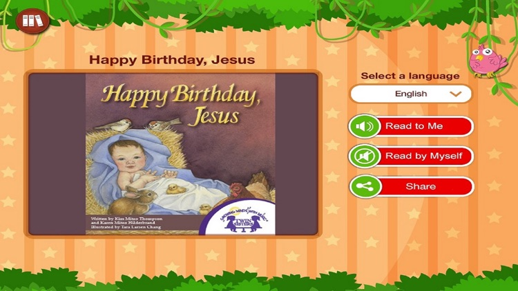 Happy Birthday Jesus - Read along interactive Christmas eBook in English for children with puzzles and learning games