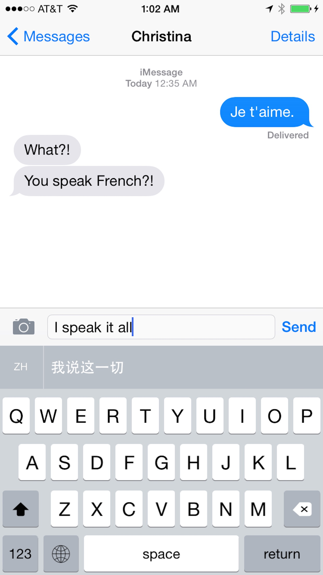 Screenshot do app Slated - Translation Keyboard