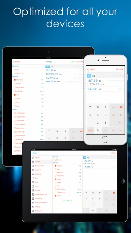 Unit Converter - Convert units in no time with the best unit conversion tool with free integrated calculator, up to date currency exchange rates and unlimited favorites screenshot-3