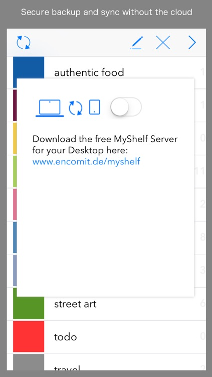 MyShelf -  Note & Image Manager. Organize in color. screenshot-4