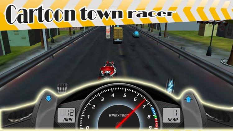 ` 3D Cartoon Town Racer Racing Simulator Free game screenshot-3