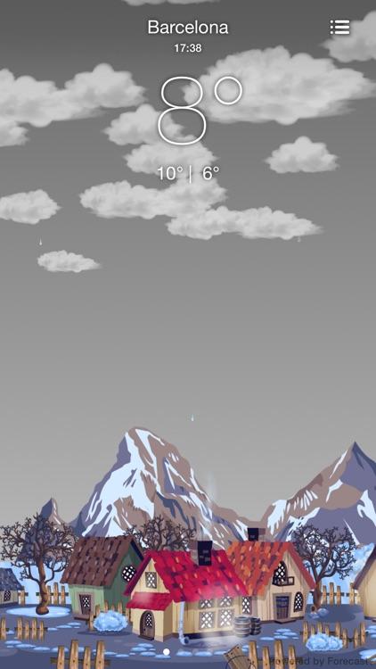 NiceWeather Free - Weather in a Comic World screenshot-3