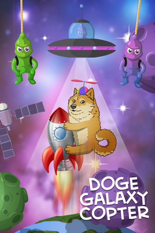 3 Minutes to Hack Doge Galaxy Copter Arcade Game Of Kabosu, A Doge